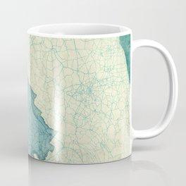 Virginia State Map Blue Vintage Coffee Mug