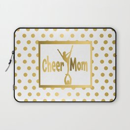 Cheer Mom Gold Dot Design Laptop Sleeve