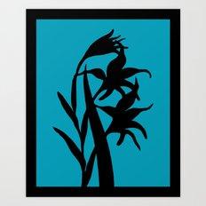 Gladiolus in Pumpkin Orange - Original Floral Botanical Papercut Design Art Print