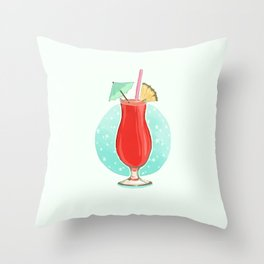 Strawberry Daiquiri Throw Pillow