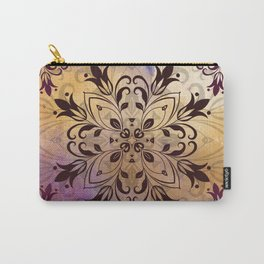 ELEGANT FLORAL WATERCOLOUR MANDALA Carry-All Pouch
