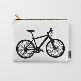 Simple hand drawn doodle of bicycle in black and white Carry-All Pouch