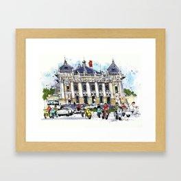 Hanoi Opera House, Vietnam Framed Art Print