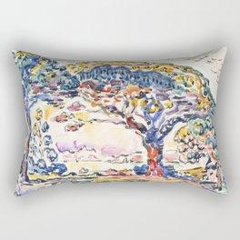 """Paul Signac """"La Baie (Saint-Tropez)"""" Rectangular Pillow"""