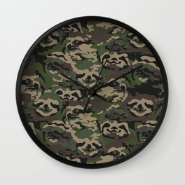 Sloth Camouflage Wall Clock