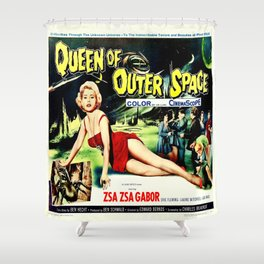 Queen of Outer Space Shower Curtain