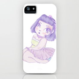 Pastel Girl purple and white iPhone Case