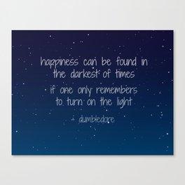 dumbledore's happiness Canvas Print