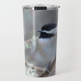 Chickadee in the Alder Tree Travel Mug