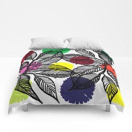 pom pom plant Comforters