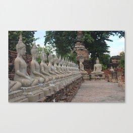 Buddha statues at Wat Yai Chai Mongkhon Canvas Print