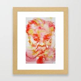 JORGE LUIS BORGES _ watercolor portrait Framed Art Print