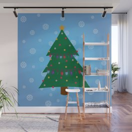 Christmas Tree - Blue Wall Mural