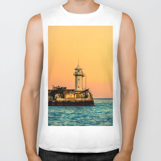 Old Lighthouse Biker Tank