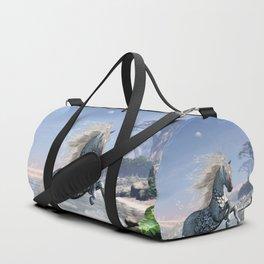Wonderful wild fantasy horse Duffle Bag