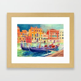 sunshine in Venezia Framed Art Print