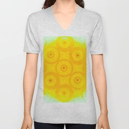 Circle From Yellow To White Unisex V-Neck