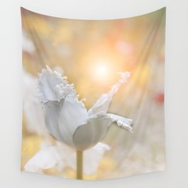 Virgin Tulip and the Dance of the Fairies Wall Tapestry