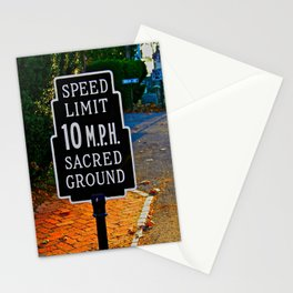 Slow Down! Sacred Ground! Stationery Cards