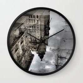City Reflection Wall Clock