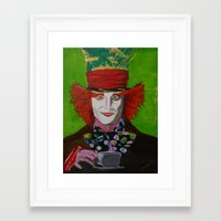 mad hatter Framed Art Prints featuring Mad Hatter by DEZA