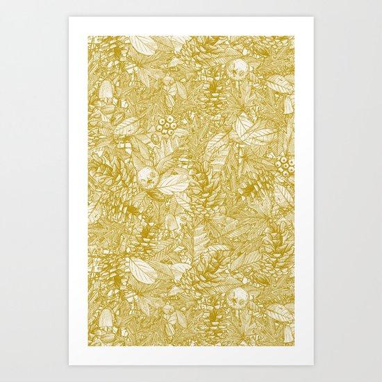 forest floor gold ivory by sharonturner