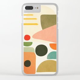 Modern Abstract Art 71 Clear iPhone Case