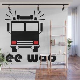 Wee Woo Fire Truck Wall Mural