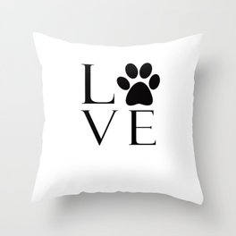 Dog Lover Throw Pillow