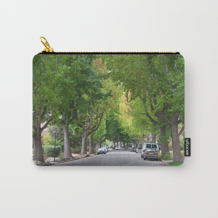 Old Tree Lined Neighborhood end of Summer Carry-All Pouch