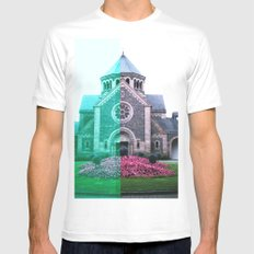 Cracked church... White Mens Fitted Tee MEDIUM