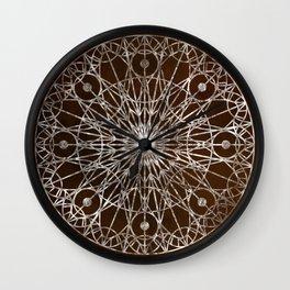 Rosette Window - Brown Wall Clock