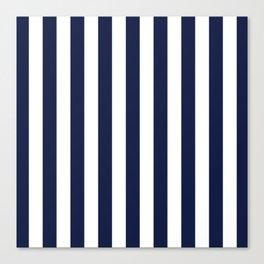 Maritime pattern- darkblue stripes on clear white - vertical Canvas Print