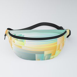 Ice Ice Baby - Abstract Glitch Pixel Art Fanny Pack