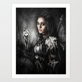 Northern Wolf Art Print