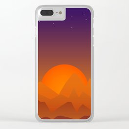 Slumbering Hills, Southwestern Landscape Art Clear iPhone Case