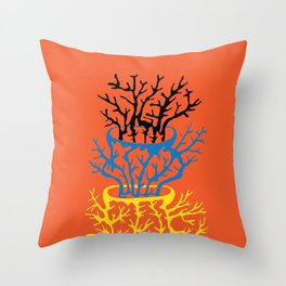 matisse coral Throw Pillow