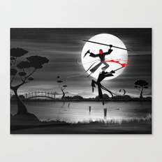Blood, Over Water Canvas Print