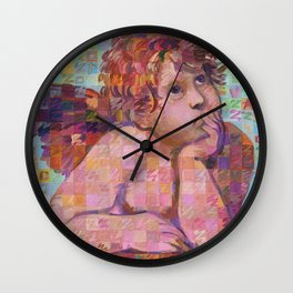 Sistine Cherub No. 1 Wall Clock