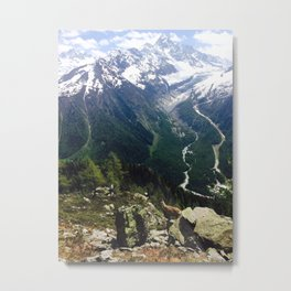 A View of Mont Blanc Metal Print