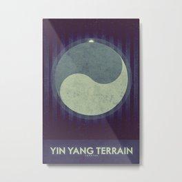 Iapetus - Yin Yang Terrain  Metal Print