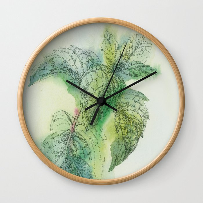 Fresh Mint Wall Clock