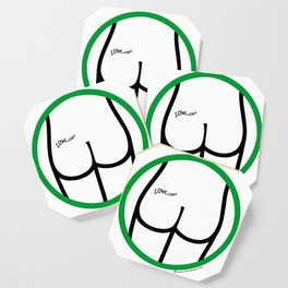 It's OK: Clothing not required here! Coaster