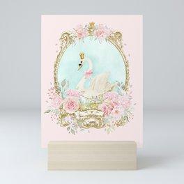 The shabby Swan Mini Art Print