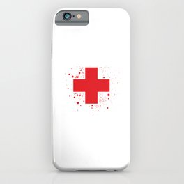 Give Blood Play Hockey Ice Hockey Player Gift iPhone Case