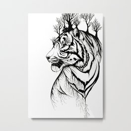 Tigress Landscape Metal Print