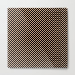 Black and Butterum Polka Dots Metal Print