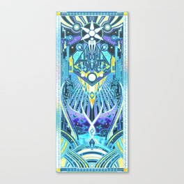 The Reaper War: Control Ending - Quarian Tapestry Art Style (blue/lavender ver.) Canvas Print