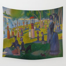 A Sunday Afternoon on the Island of La Grande Jatte Painting by Georges Seurat Pointillism Wall Tapestry
