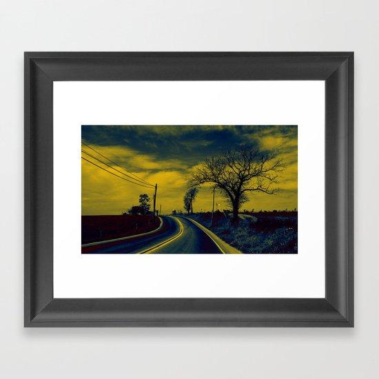 Rural road Framed Art Print